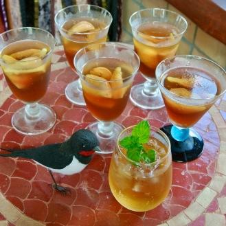 いちじくの白ワインコンポートと紅茶のゼリ