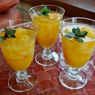 オレンジと白ワインのゼリー