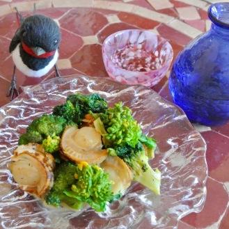 ベビー帆立と菜の花のソテー
