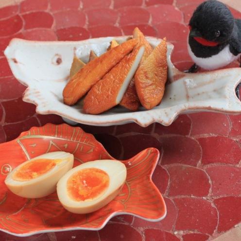 笹蒲鉾と煮卵の燻製