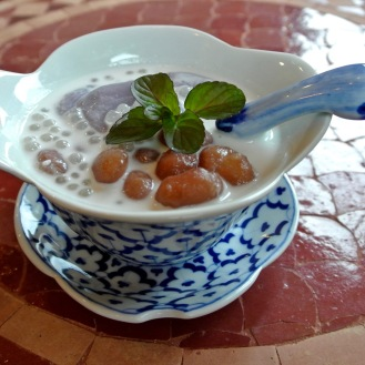 白玉と金時豆のココナッツミルク