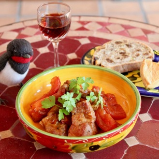 豚肉とトマトのバルサミコソテー